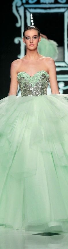 {Abed Mahfouz Mint Green Gown} {ht}