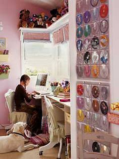 love the idea here for the cd's