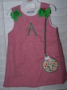 Custom Boutique Christmas Appliqued Dress by theroyalprincess, $30.00