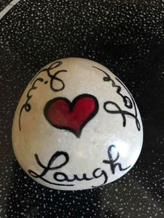 Love Painted Rock For Valentine Decorations Ideas 18