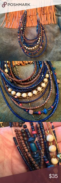 Chico's Wood Bead Necklace Worn fewer than 5 times. Perfect for the season! NO TRADES. Reasonable offers (no lowballs please) accepted after 11/30/16 via the offer button below. Please ask all questions before purchase. Chico's Jewelry Necklaces