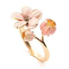 🌱🌸 NEW | The Cherry Blossom Ring 🌸🌱 Cherry Blossom Art, Gold Rings, Gemstone Rings, Perfect Mother's Day Gift, Open Ring, Bridesmaid Jewelry, Statement Jewelry, Mother Day Gifts, Diamond Jewelry