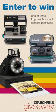 Enter to win Impossible Camera gear that Crutchfield is giving away