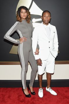 Pharrell Williams at the 2015 Grammy Awards