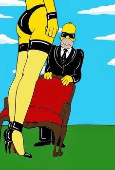 Alexsandro Palombo celebrates  the Simpsons 25th anniversary - Helmut Newton style