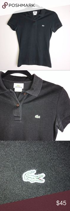 d5ccbdcd77 LACOSTE | Black Polo LACOSTE Size 36 Women's black polo. Condition is  preowned, no