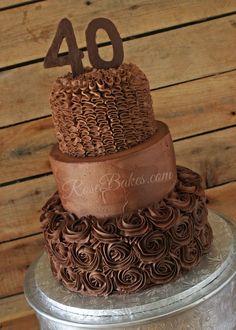 40th Birthday Cake Chocolate Texture