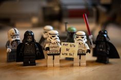 Even the Sith like to celebrate Star Wars day! May The 4th Be With You by Simon Q / simononly on Flickr | LEGO Star Wars Imperial Minifigs