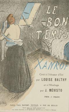 Sheet Music Le bon temps by Léon Xanrof, performed by Mévisto en Louise Balthy - Van Gogh Museum
