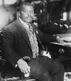 """Marcus Garvey ~ A new racial pride figured prominently in the Harlem Renaissance. Jamaican born black separatist, Marcus Garvey, sparked cultural pride and ignited interest in African roots with his """"Back to Africa"""" movement. Inspired by Booker T. Washington, Garvey founded the United Negro Improvement Association (UNIA) in 1914. Adopted by working-class African-Americans, the movement was unpopular with black intellectuals."""