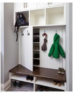 Coat Closet Organization, Closet Storage, Home Organization, Garage Storage, Coat And Shoe Storage, Garage Hooks, Shoe Racks For Closets, Shoe Storage Cabinet With Doors, Shoe Storage Rack