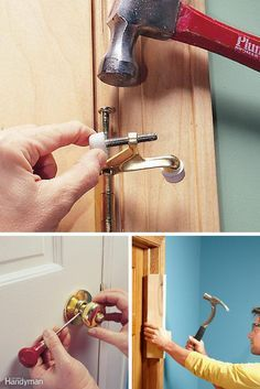Door Repair: Learn to repair all the doors in your home with these tips and how-tos. http://www.familyhandyman.com/doors/repair