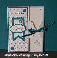 Zur Kommunion eine Bag Topper Punch Card - Omellies Designs