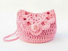 This Crochet Kid's Easy Bag Free Pattern is a cute pattern that could work as a ., This Crochet Kid's Easy Bag Free Pattern is a cute pattern that could work as a . Free Crochet Bag, Crochet Shell Stitch, Crochet Gifts, Crochet For Kids, Easy Crochet, Crochet Baby, Crochet Ideas, Crochet Wallet, Purse Patterns Free