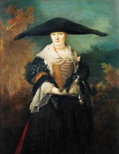 Nicolas de Largilliere-La Bella de Estrasburgo (posiblemente el retrato nupcial de la hermana del artista - María Elizabeth