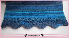 Jerseys Azteca Borde Crochet, tricotar, coser,