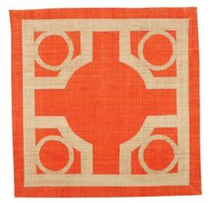 Pomegranate Inc The Baldwin Raffia Placemats - Coral (Set of 4)