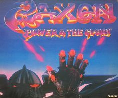 "saxon album covers | Saxon - Power and the Glory NWOBHM Heavy Metal 12"" LP - Vinyl Records ..."