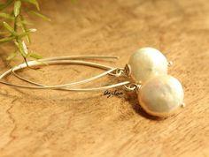 Pearl gemstone sterling silver handmade