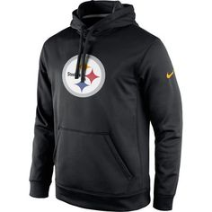Pittsburgh Steelers Nike Circuit Logo Essential Performance Pullover Hoodie - Black - Fanatics.com