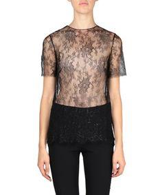LA PERLA Leisuring lace T-shirt. #laperla #cloth #t-shirt