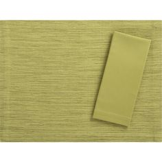 Grasscloth Pear Placemat with Cotton Pear Napkin in Placemats | Crate and Barrel