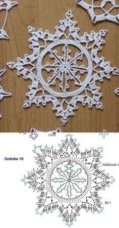 Watch This Video Beauteous Finished Make Crochet Look Like Knitting (the Waistcoat Stitch) Ideas. Amazing Make Crochet Look Like Knitting (the Waistcoat Stitch) Ideas. Crochet Snowflake Pattern, Crochet Stars, Christmas Crochet Patterns, Holiday Crochet, Crochet Snowflakes, Crochet Doily Patterns, Thread Crochet, Crochet Crafts, Crochet Flowers