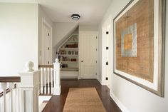 Second floor hall with reading nook - traditional - hall - minneapolis - Erotas Building Corporation