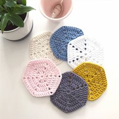 Scandi Cotton Coasters - Set of 6 | Felt