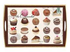 Michel Design Works Holz-Tablett Au Chocolat