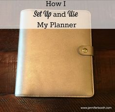 Got a new planner and don't know how to get it organized? Check out how I set up and use my planner for tips and ideas.