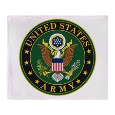 US Army Throw Blanket #UnitedStatesArmy #Army  #SupportourTroops  #ArmyStrong #SupportourMilitary #USA Lots of products  For this design click here --  http://www.cafepress.com/dd/97168084