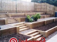 Most up-to-date Photos Retaining Walls on hill Ideas For those who have a yard within the Knoxville spot the chances are you ve thi Sloped ba # Sloped Backyard Landscaping, Landscaping On A Hill, Sloped Yard, Landscaping Retaining Walls, Terraced Backyard, Landscaping Ideas, Steep Hillside Landscaping, Terraced Landscaping, Backyard Ideas