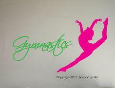 Gymnastics Wall Decal Girls Bedroom Sports by JaneyVinylArt