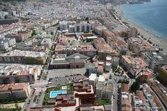 Estepona, vista aérea, casco antiguo y playa de la Rada #Estepona #beach #spain