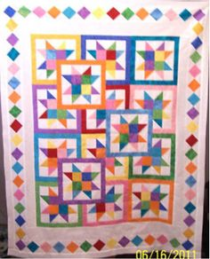 Layered Stars quilt top