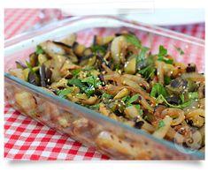 Salada de berinjela grelhada