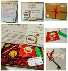 Magical box from Santa from www.facebook.com/thehandmadestudio Contains... Fully Personalised letter from Santa certificate reindeer dust magic key and treats  #christmas #santa #letter #children #xmas #magic #key #reindeer #certificate #chocolate #thehandmadestudio #CraftersCavern #ccc #slh #hltmp #smallbusiness #yorkshire #bradford #letusbeseen