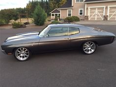 70 chevelle grey black billet wheels