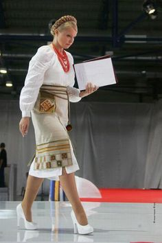 Ex Prime Minister of Ukraine, Yuliya Tymoshenko in a beautiful Ukrainian outfit, BRAVO!, from Iryna with love