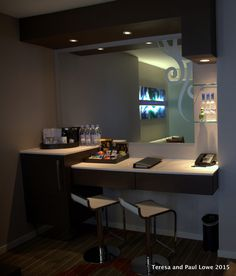 When you first walk into your suite at the Hard Rock Hotel San Diego, there is a great deluxe mini-bar and plenty of snacks.