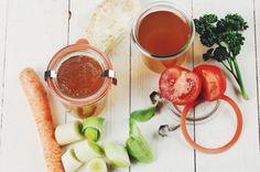 Selbstgemachte Gemüsebrühe, Gemüsefond, homemade