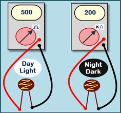 Dark Sensor With LDR, Transistor and a LED | Pinterest | Ldr circuit ...