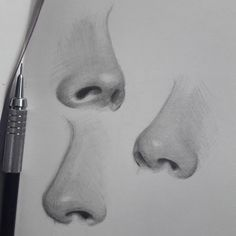 Good Photo pencil drawing nose Strategies These pencil drawing techniques from top artists will help you take your drawing skills to another l Pencil Drawing Tutorials, Pencil Art Drawings, Art Drawings Sketches, Realistic Drawings, Art Tutorials, Drawing Ideas, Realistic Rose, Drawing Tips, Portrait Sketches