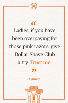 Why overpay for razors? Get a 1-month trial of any Dollar Shave Club razor for just $1. After that, it's just a few bucks a month.