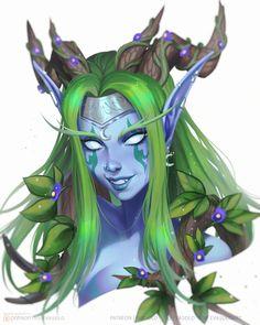 Fantasy Drawings, Fantasy Kunst, Fantasy Artwork, World Of Warcraft, Warcraft Art, Creature Concept Art, Creature Design, Dnd Characters, Fantasy Characters