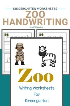 Adorable Zoo Writing Worksheets for Kindergarten Printable Handwriting Worksheets, Printable Preschool Worksheets, 1st Grade Worksheets, Reading Worksheets, Free Preschool, Free Math, Kindergarten Worksheets, Homeschool Kindergarten, Kindergarten Writing