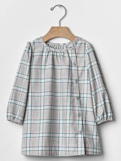 b5068170794 Details about GAP Baby / Toddler Girl Size 12-18 Months Gray, Green & Pink Plaid  Flannel Dress