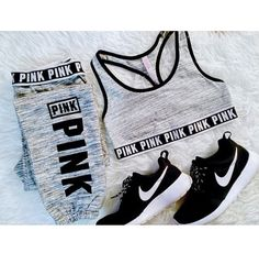 Pink + Nike running