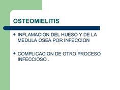 La osteomielitis (infeccion de huesos) es tratada con antibioticos y a veces persiste por varios meses o anos. Con el Oxigeno Hiperbarico se trata con buenos resultados junto con los antibioticos logrando la curacion completa. - http://ift.tt/1ipRjKg -